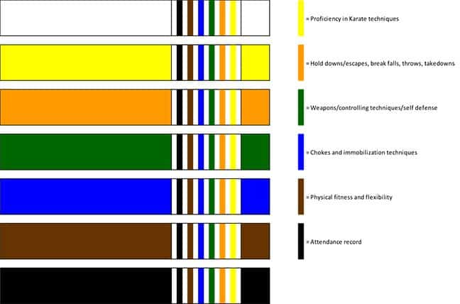 Jiu-jitsu belt stripes for the adult class